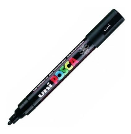 caneta posca uni ball preta pc-5m