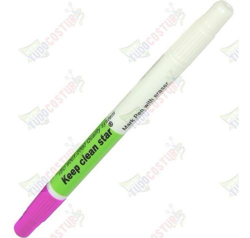 caneta rosa marcar tecido ponta dupla risca apaga patchwork