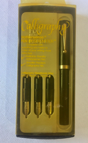caneta sheaffer no nonsense calligraphy vintage usa 1983