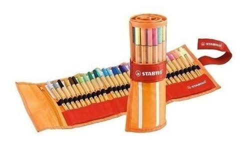caneta stabilo point 88 c/ 30 cores fan edition