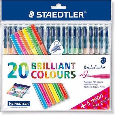 caneta staedtler triplus fineliner 26 cor 0.3 box articulado