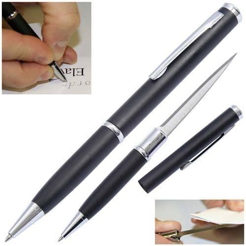 caneta tatica 007 defesa lâmina disfarçada faca