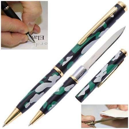 caneta tatica 007 defesa lâmina disfarçada faca camuflada