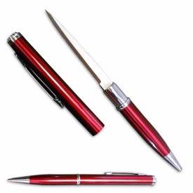 caneta tatica 007 defesa lâmina disfarçada faca vermelha