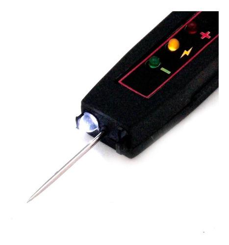 caneta teste de polaridade com iluminação