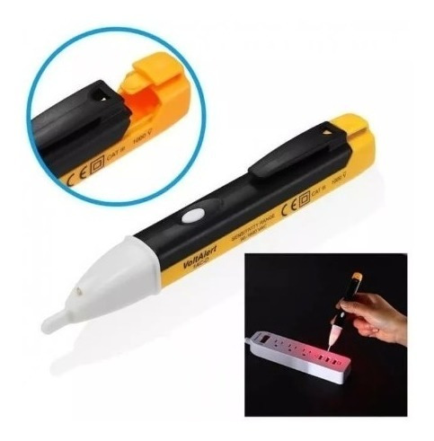 caneta teste energia luz alerta sonoro detectora de tensão