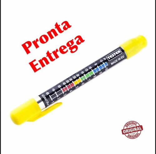 caneta teste espessura massa plástica carro batido - canetex