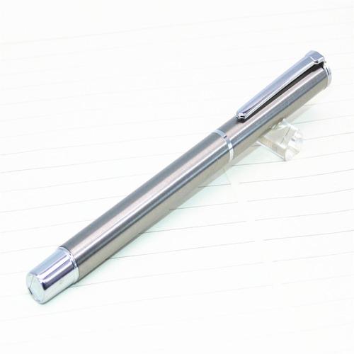 caneta tinteiro baoer 801 aço inoxidável frete barato