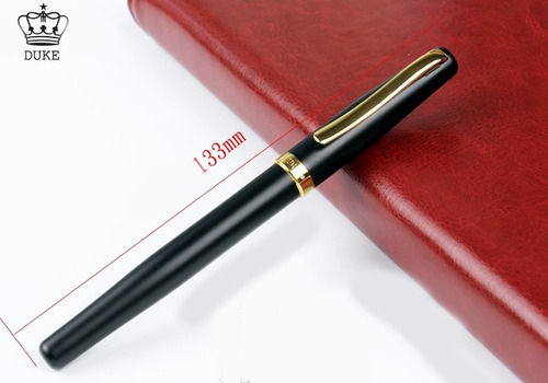 caneta tinteiro duke alemã original banhada a ouro presente