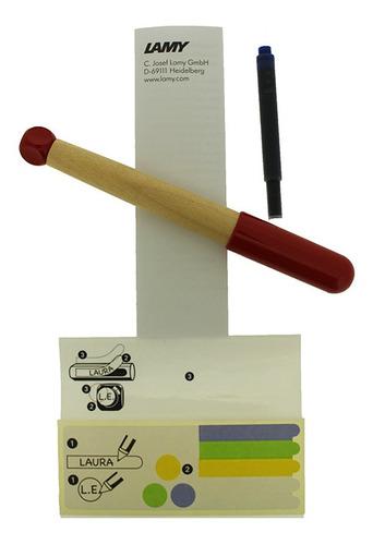 caneta tinteiro lamy abc vermelha