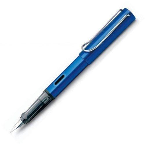 caneta tinteiro lamy al star ocean blue pena media vt20159