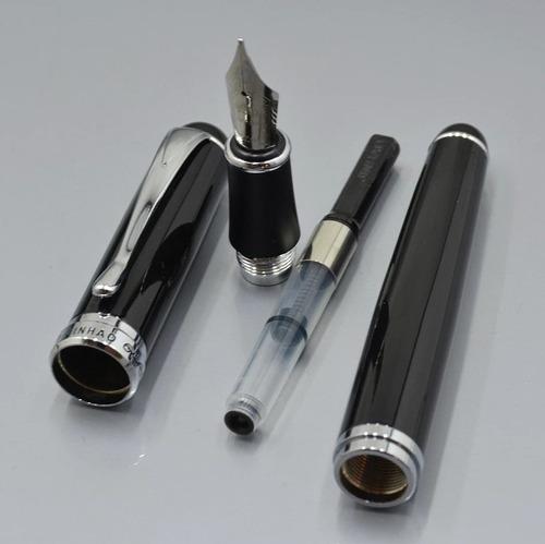 caneta tinteiro luxo jinhao x750 preta