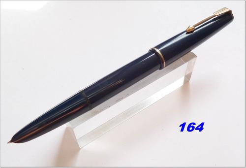 caneta tinteiro parker 17 aerometric inglesa azul
