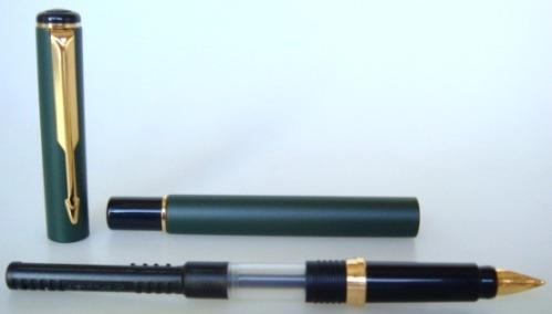 caneta tinteiro parker rialto epoxi verde pm gt inglesa