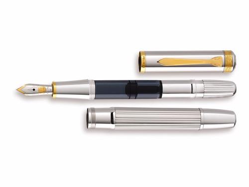 caneta tinteiro pelikan m7000 majesty prata maciça p média