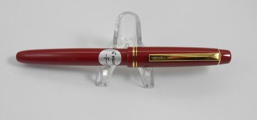 caneta tinteiro pilot 78g vermelha pena fina - frete grátis