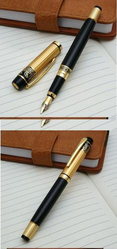 caneta tinteiro premium + tinta