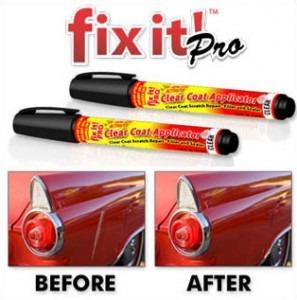 caneta tira risco arranhões fix it restaurador carro moto