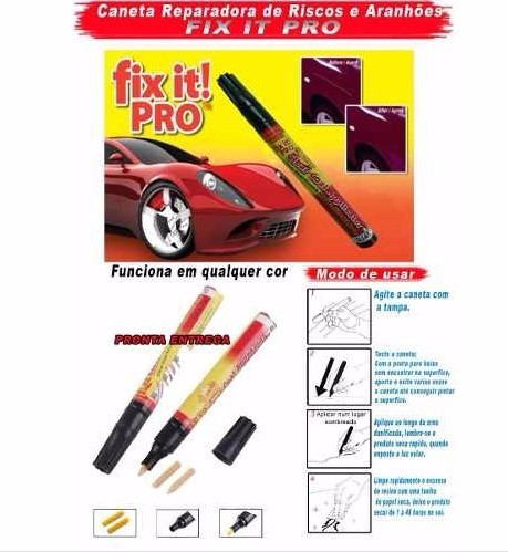 caneta tira risco automotivo fix it pro   frete grátis