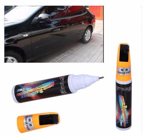 caneta tira riscos reparador pinturas automotivas preta #