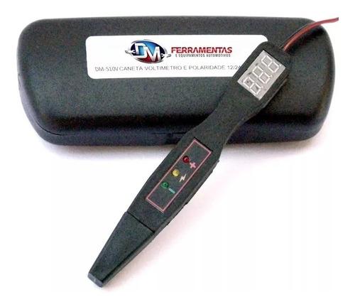 caneta voltímetro, ms e polaridade (digital) 12/24v