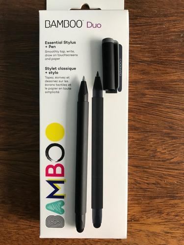 caneta wacom bamboo duo 4a geração charcoal gray