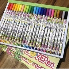 canetas coloridas marcadores laváveis  permanentes lovepen!