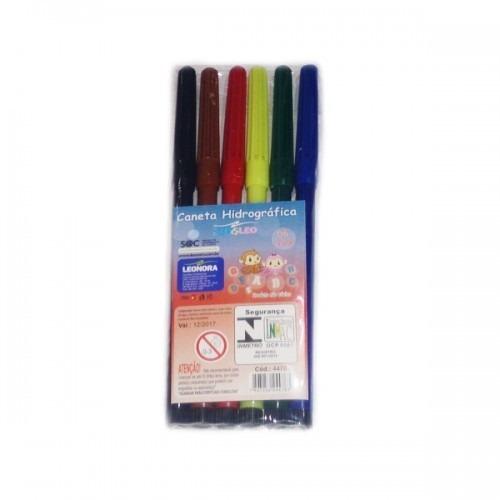 canetinha hidrocor 6 cores - pronta entrega - atacado