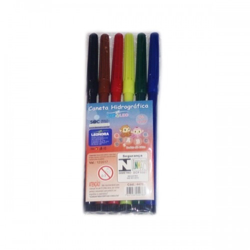 canetinha hidrocor 6 cores - pronta entrega - lembrancinha
