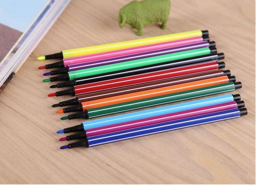 canetinha hidrográfica 12 cores criança escola
