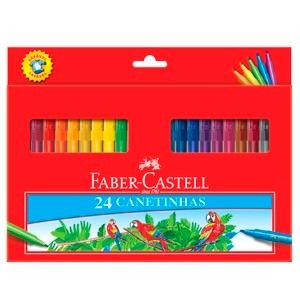 canetinha hidrográfica prestocolor faber castell 24 cores
