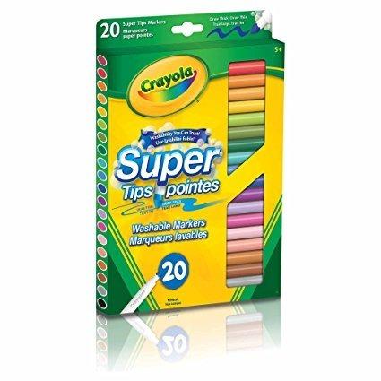 canetinha lavável super tips 20 cores + brinde
