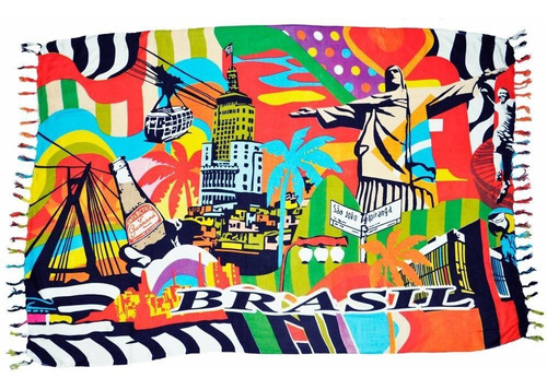 d85461e69 Canga De Praia Brasil Turístico Saída Maio Biquíni - R$ 39,99 em ...