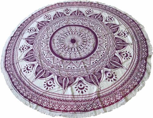 canga indiana redonda roxa importado da índia