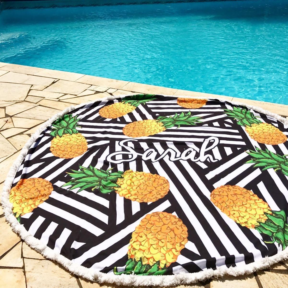 1e92f1633 canga redonda personalizada | canga praia abacaxi geométrico. Carregando  zoom.
