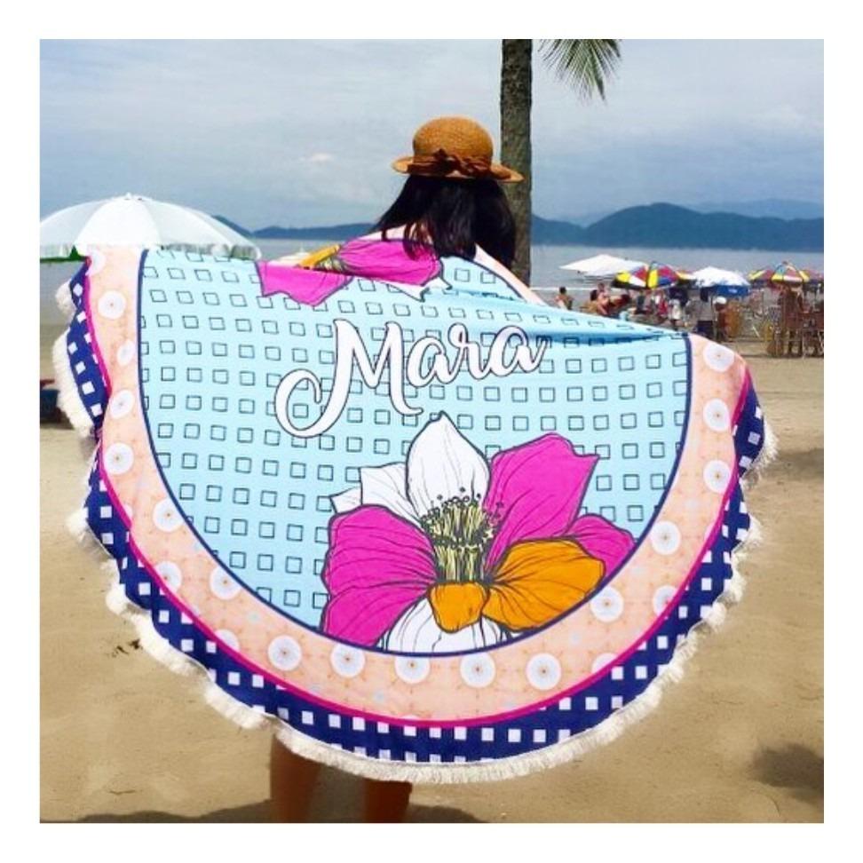 35659ec09 Canga Redonda Personalizada | Canga Praia Duas Flores - R$ 219,90 em ...