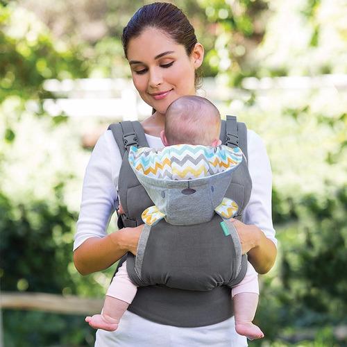 cangurera bebe canguro infantino ergonómico capucha osito