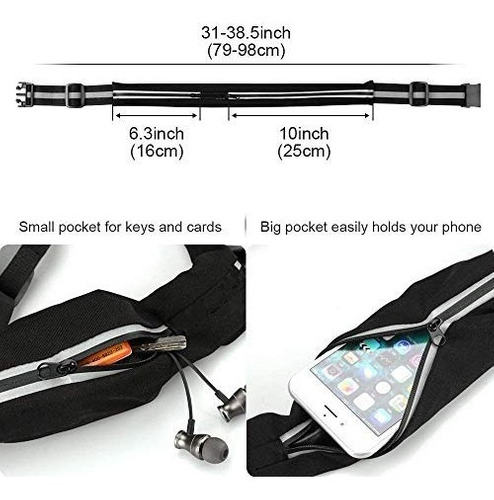 cangurera deportiva 2 unidades con bolsa para celular