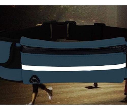 cangurera deportiva con cinturón elástico salida audífonos full