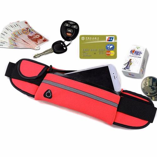 cangurera deportiva para celular universal color rojo d1124