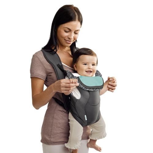cangurera para bebe gris portador evenflo