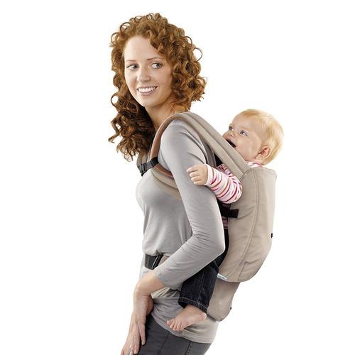 cangurera para bebe khaki portador evenflo
