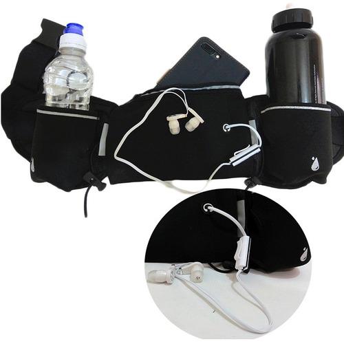 cangurera sport para correr , porta botella  y porta celular