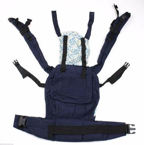 canguro cangurera bolsa mochila para bebé color azul w