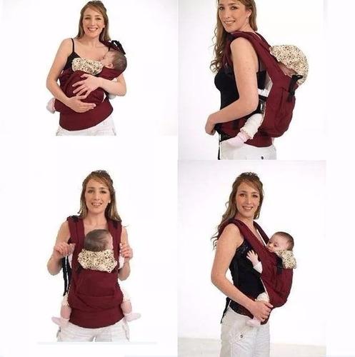 canguro cangurera bolsa mochila para bebé roja