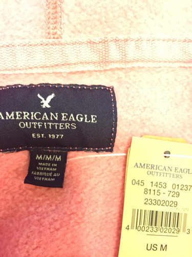 canguro frizado american eagle con desgaste