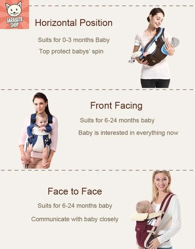 canguro porta bebe ergonomico multifuncion