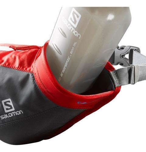 canguro  unisex salomon -  hydro 45 compact belt  rojo/negro