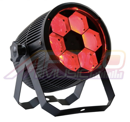 canhao projetor bee eye 6 leds 12w quadriled dmx - kit com 2
