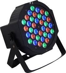 canhao refletor 36 leds rgb dmx jogo luz iluminacao dj festa